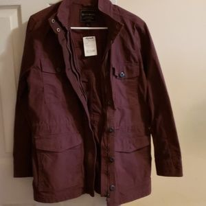 Collar jacket burgundy